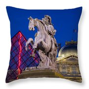 Musee Du Louvre Statue Throw Pillow