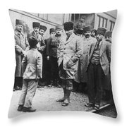 Mustafa Kemal Ataturk  Throw Pillow