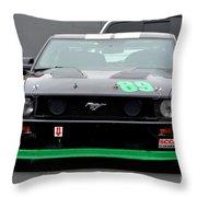 Mustang Race Car Throw Pillow