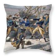 Mutiny: Anthony Wayne 1781 Throw Pillow