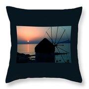 Mykonos Island Greece Throw Pillow