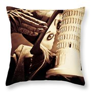 Mysteries Of Italy Throw Pillow