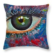 Mystery Stare Throw Pillow