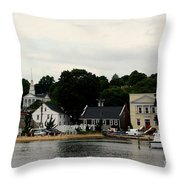 Historic Mystic Seaport Throw Pillow