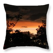Mystic Sunset Throw Pillow
