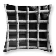 N Y C Grates In Black And White Throw Pillow