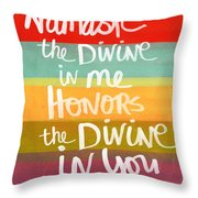 Namaste  Throw Pillow