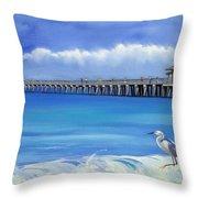 Naples Pier Naples Florida Throw Pillow