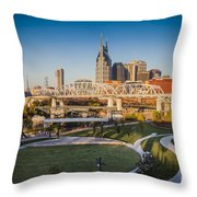 Nashville Morning Throw Pillow
