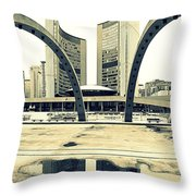 Nathan Phillips Square Throw Pillow