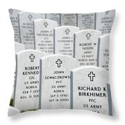 National Cemetery Of The Alleghenies Throw Pillow by Amy Cicconi