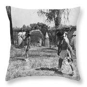 Native American Games Throw Pillow