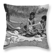 Native American Traders Throw Pillow