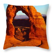 Natural Arch In A Desert, Delicate Throw Pillow
