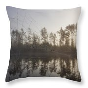 Natural Network Throw Pillow