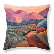 Natures Path Throw Pillow
