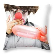 Naughty Thoughty Throw Pillow