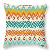 Navajo Mission Round Throw Pillow