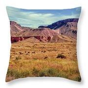 Navajo Nation Series Along 87 And 15 Throw Pillow