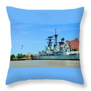 Naval Park And Museum Throw Pillow