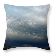 Nebraska Mammatus A Cometh Throw Pillow