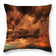 Nebraska Thunderset Throw Pillow