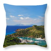 Nelson's Dockyard Throw Pillow