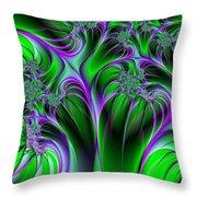 Neon Fantasy Throw Pillow