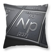 Neptunium Chemical Element Throw Pillow