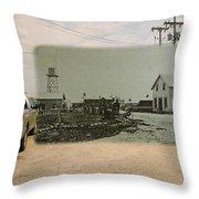 Net Mending At Sakonnet Point In Little Compton Rhode Island Throw Pillow