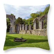 Netley Abbey Throw Pillow