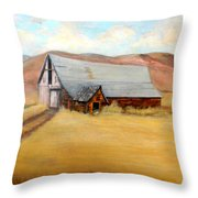 Nevada Barn Throw Pillow