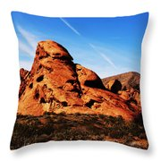 Nevada - Valley Of Fire Throw Pillow