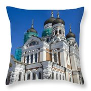 Nevsky Cathedral - Tallin Estonia Throw Pillow