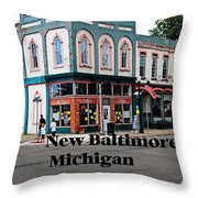 New Baltimore Michigan Throw Pillow