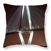 New Cooper River Bridge Throw Pillow