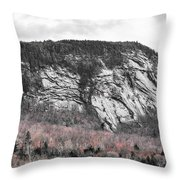 New Hampshire Mountain Throw Pillow