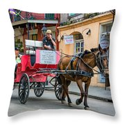 New Orleans - Carriage Ride Throw Pillow