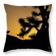 New Photographic Art Print For Sale Joshua Tree At Sunset Throw Pillow