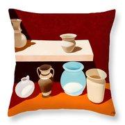 New Pottery Throw Pillow