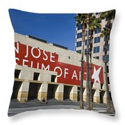 New Wing Of The San Jose Museum Of Art Throw Pillow