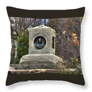 New York At Gettysburg - 140th Ny Volunteer Infantry Little Round Top Colonel Patrick O' Rorke Throw Pillow