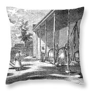 New York Bell Foundry Throw Pillow