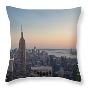 New York City - Empire State Building Throw Pillow
