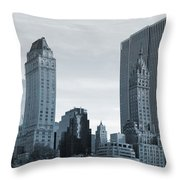 New York City From Central Park Throw Pillow