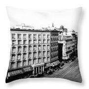 New York City Hotel Throw Pillow
