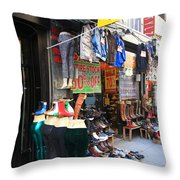 New York City Storefront 8 Throw Pillow