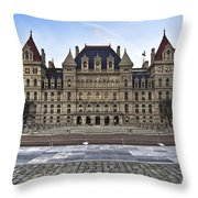 New York State Capitol Building Throw Pillow