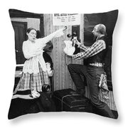 New York Waldorf-astoria Throw Pillow