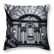 Newcastle Central Arcade Throw Pillow
